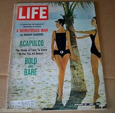 Life Magazine, January 27, 1967 - Bathing suits in fashion at Acapulco Lot MG2