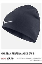 Nike Team Performance Beanie - Navy Blue - RRP £7.49 - Brand New In Pocket