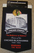 "CHICAGO BLACKHAWKS CHICAGO STADIUM ""REMEMBER THE ROAR"" STADIUM BANNER"