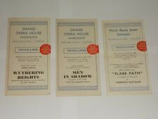 Grand Opera House Harrogate. 3 Programmes From 1944 & 1945.