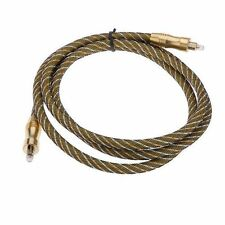 Digital Audio Optical Fiber SPDIF Cable Toslink 6F 1.5 M Gold Plated 5Ft