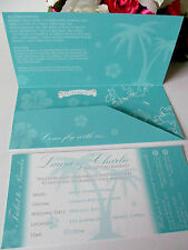 10 Wedding Invitation Flight Ticket Abroad Holiday Invite Boarding Pass RSVP