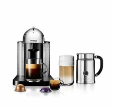 Nespresso VertuoLine Coffee & Espresso Maker w/ Aeroccino+ Milk Frother, Chrome