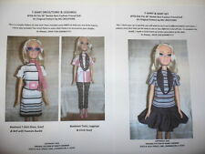 "NG Creations Sewing Pattern #3  fits 28"" Best Fashion Friend Barbie Doll"