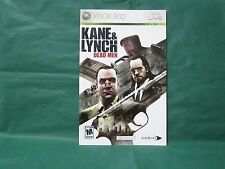 Kane and & Lynch Dead Men Manual for Xbox 360 *MANUAL ONLY*