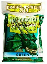 50 PROTECTIVE SLEEVES Green Verde MTG Dragon Shield