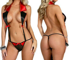 Lingerie Nightwear Underwear Sleepwear Babydoll sexy Dress G-String BLACK&RED HS
