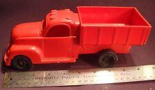 Vintage Red Marx Spreader Salt Dump Truck 1950's