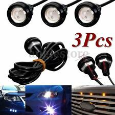 3x Blue  LED Eagle Eye Light Grille Lighting For Ford F-150 Raptor Style Truck