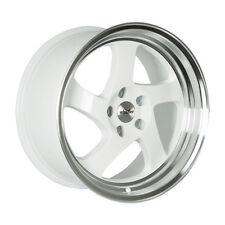 18x9.5 +35 Whistler KR1 5x100 White Wheel Fit Matrix Audi Tt Lexus Ct200H STANCE