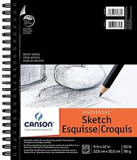 "Canson Artist Series Universal Sketch Pad, 9""X12"" Side Wire by Canson NEW"
