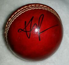 KEVIN PIETERSEN SIGNED LEATHER Cricket ball PROOF COA Clarke Waugh Ponting