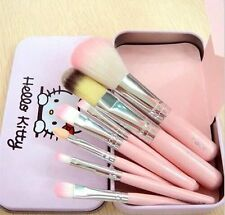 7pcs Hello Kitty KT Makeup Foundation Eyeshadow Eyeliner Cosmetic Brush Set