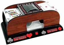 Trademark Poker 2-Deck Automatic Card Shuffler Brown