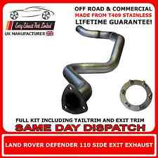 Land Rover Defender 110 TD5 / Puma Off Road Stainless Steel Side Exit Exhaust