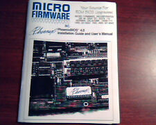 Micro Firmware PhoenixBIOS 4.0 Installation Guide and User's Manual ROM