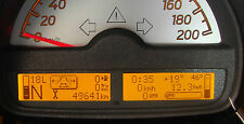 Bordcomputer in Originalfarbe amber für den smart fortwo 451 ab Bj. 2007