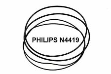 COURROIES SET PHILIPS N4419 MAGNETOPHONE A BANDE EXTRA FORT NEUF FABRIQUE N 4419