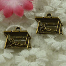 free ship 54 pieces bronze plated mermaid charms 18x16mm #3808