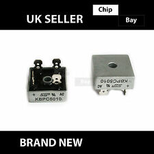 2x KBPC5010 Metal Case 4 Pin Single Phase Diode Bridge Rectifier 1000V 50A