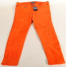 Ralph Lauren Orange Genuine Lamb Suede Skinny Pants Sz 6 28x28 Nwt $1298 C3A