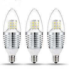 5pcs LED Bulbs E12 Candelabra Base Light Bulb 7W 110V Daylight White 6000-6500K