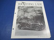 The Flying Lady Rolls-Royce Magazine July 1981, Horden Ghost, 1913 Barker Tourer