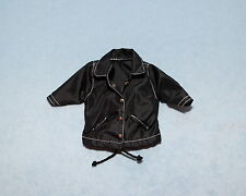CALVIN KLEIN Jet Black Genuine BARBIE Wind Breaker Rain Coat w/ Draw String