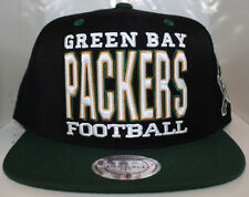 NFL Green Bay Packers XI Type W/Patch Mitchell & Ness Snapback - Black/Green