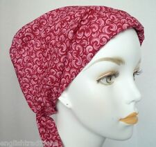 Red Classic Chemo Cancer Hat Hair Loss Scarf Turban Cotton Head Wrap Alopecia