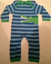 New Baby Boys Ex designer Footless Romper Playsuit Age 0-3 Months Crocodile