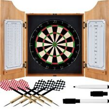 TG Beveled Wood Dart Cabinet - Pro Style Board and Darts, Pine Wood. #m2