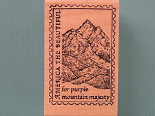 America The Beautiful,Purple Mountain Majesty Faux Postage-Postoid RUBBER MONGER