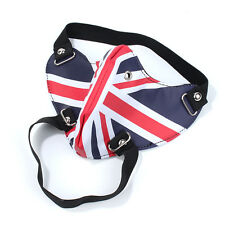 Unisex Leather UK Flag Steampunk Sports Cosplay Motorcycle Biker Half Face Mask