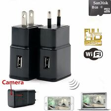 Mini 1080P WIFI HD SPY DVR Hidden Camera AC Plug Adapter Videorecorder Nanny Cam