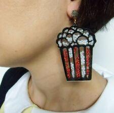 Défaut Destockage boucles d'oreilles pop corn originales plastique perles