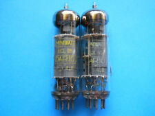 MATCHED-PAIR OF ECL85 MINIWATT DARIO YELLOW LOGO TESTED NOS