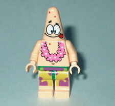SPONGEBOB Lego Patrick Tongue Out and Lei  NEW 3833-3818 #3B