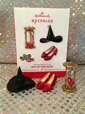 2013 HALLMARK SET OF 3 ORNAMENTS THE WIZARD OF OZ - OUT OF TIME IN OZ LIMITED ED