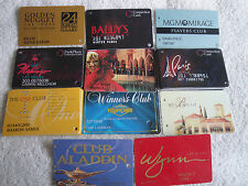 12 USED CASINO LAS VEGAS NV PLAYERS CLUB CARD ALADDIN WYNN BELLAGIO TROPICANA