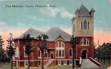 Kansas postcard Cherryvale,  First Methodist Church