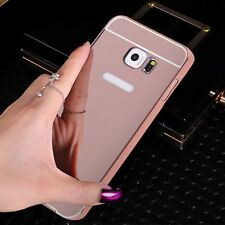 Luxury Mirror Metal Frame Hard PC Case Cover For Samsung Galaxy S6 Edge+ Plus