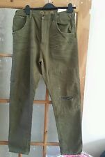 LOTUS FAMOUS LADIES ARMY GREEN RECYCLED  JEANS  W 28 L 34 BRAND NEW WITH TAGS