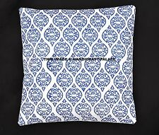 Indian Block Printed Cushion Cover Pillow Case Throw Abstract Home Decor 16 ""