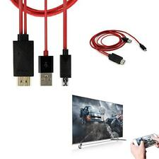 1pc MHL Micro USB to HDMI 1080P HD TV Cable Adapter for Most of Samsung Phone ED