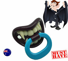 Baby Shower Costume Halloween Party Fungs Funny Scary Teeth Pacifier dummie PROP