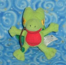 Ashs Treecko Pokemon Key Chain Plush Doll Toy with Clip Hasbro USA from 2004