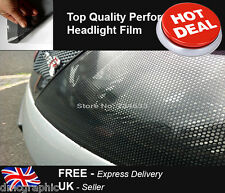 32x107cm Perforated Car Window Fly Eye Headlight Film Mesh One Way Vision Wrap