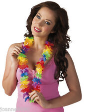 HAWAIIAN FANCY DRESS FLOWER LEI NECKLACE GARLAND HULA PARTY COSTUME ACCESSORY BN