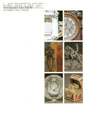 Heritage Estate Fine Art & Antiques Dallas Auction Catalog October 2013